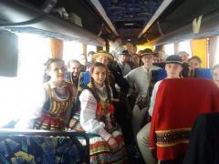 125. 10.06.2018 W drodze na paradę z Zespołem Tańca Ludowego UMCS z Lublina, w Budapeszcie