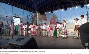 43 MHFKMS Mali Śwarni koncert Świat Folkloru na Rynku w Kielcach 15.07.2016